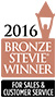 Bronze Stevie® Winner