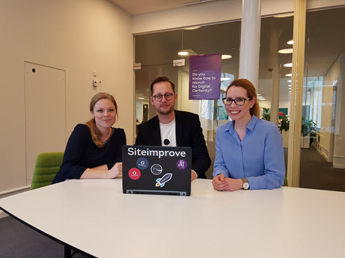 Katrine, Jacob, and Martina from the Siteimprove Talent Acquisition team